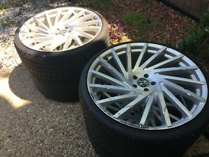 4 22 Xcess Rims And Tires Plus Spare Tire