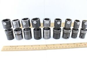 Snap On Ipl Universal Swivel 1 2 Drive Socket Various Sizes Very Good Condition
