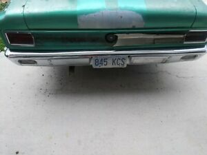 Amc Rear Bumper With Brackets Off Of A 1968 Rambler American 440 Straight Used