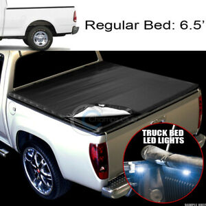 Snap on Tonneau Cover 16x Led Lights 97 03 Ford F150 97 99 F250 6 5 Ft Truck Bed