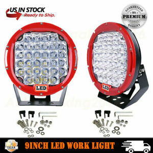 2x 9inch 96w Round Spot Led Work Light For Jeep Off road 4wd Bumper Vs 185w Blk