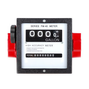 1 digital Mechanical Fuel Meter Black for All Fuel Transfer Pumps