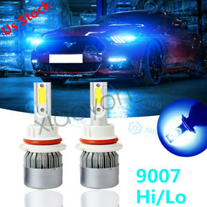 For Ford Mustang 1990 2004 8000k 9007 Hb5 Plug play Led Headlight Hi lo 2x Bulbs