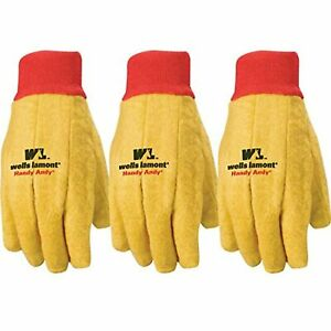 Wells Lamont Handy Andy Men s Indoor outdoor Cotton polyester Chore Gloves 3 pk