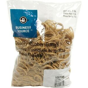Business Source Quality Rubber Bands Size 30 Bsn 15738 25 Packs 1 Carton