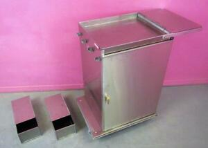 Royce Rolls Mp2436 Stainless Steel Janitorial Cleaning Cart Microfiber W Lock