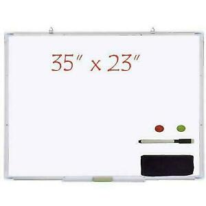 35 x23 Magnetic Writing Whiteboard Dry Erase Board W eraser Office Single Side