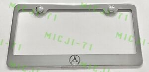 3d Mercedes Benz Raised Emblem Stainless Steel License Plate Frame Rust Free