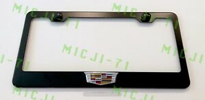 3d Cadillac Escalade Emblem Stainless Steel License Plate Frame Rust Free