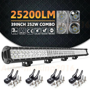 39inch 252w Led Work Light Bar Spot Flood Offroad Truck Suv Roof Lamp Vs 38 40