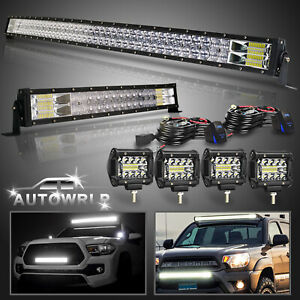 Curved 52 22 Led Work Light Bar Pods Offroad Truck For Ford Gmc Suv 4wd 50 20