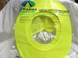Pyramex Safety Hard Hat Brim With Neck Shade Safety Yellow Hpshade30