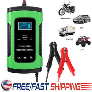 12v Car Battery Charger Auto Jump Starter Power Bank Booster Maintainer 6a Us