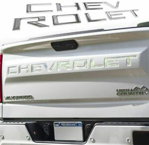 3d Raised Decal Tailgate Insert Letters For Chevrolet Silverado 2019 2020 2021