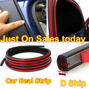 4m Mini D Type Car Door Weatherstrip Adhesive Seal Rubber Trim Strip Tape Parts