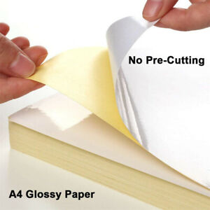 5 Sheets A4 Label Paper Self Adhesive Sticker For Printer Shipping Gloss matte