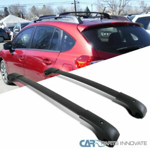 For 14 18 Subaru Forester Black Cross Bars Crossbars Roof Rack Luggage Carrier