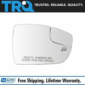Trq Exterior Side View Mirror Glass Heated Passenger Side Rh For Ford Focus