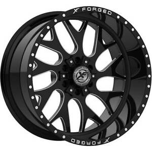 4 New Xfx Off road 20x10 Wheels Xfx 301 Gloss Black Milled 6 Lug Ford Chevy 24