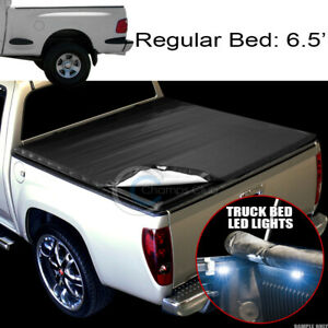 Snap On Tonneau Cover 16x Led Lights 97 03 F150 F250 Flareside 6 5 Ft Truck Bed