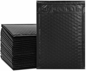 0 6 5x 10 Black Color Poly Bubble Envelopes Mailers Bags Padded Shipping