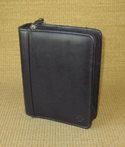 Compact Franklin Covey Black Leather 1 25 Rings Zip Planner binder