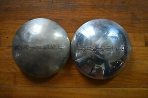 1940 Ford Deluxe Dog Dish Hubcaps Rat Rod Patina Shop Truck Pair