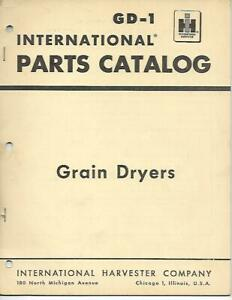 Ih International Harvester Grain Dryers International Parts Catalog