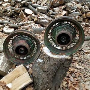 2 Vintage Ford 6 5 16 Wire Rims Yes 2 Not 1