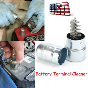 3 22in Car Battery Post Terminal Cleaner Dirt Corrosion Brush Hand Clean Tools