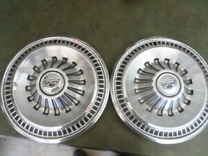 2 1965 65 1966 66 Ford Fairlane Galaxie Hubcaps Wheelcovers Antique Vintage