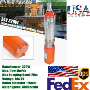 Dc 24v Submersible Deep Dc Solar Well Water Pump Alternate Energy 5m h 320w 25m