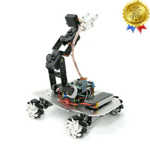 Mecanum Wheel Robot Car Chassis Mechanical Robotic Arm W pendulum Suspension