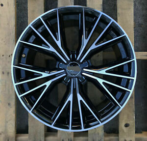 19x8 5 35 Rs Style 5x112 Black Machined Face Wheels Fits Audi Q3 Q5 A4 Tt Tts