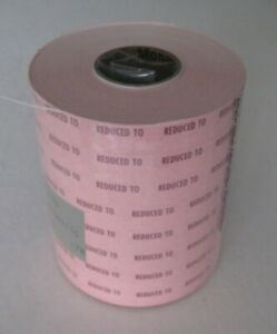 8 Rolls Paxxar Monarch 1110 Pricing Gun Labels Pink reduced To Sale Tags Senso
