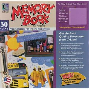 C line 62227 Memory Book Top load Page Protectors 12 X 12 Inch