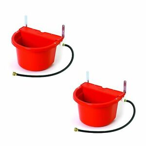 Little Giant Fw16red 4g Auto Float Controlled Water Livestock Trough 2 Pack