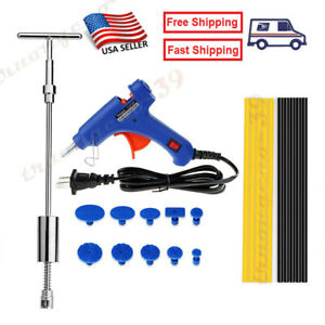 Auto Car Body Paintless Dent Ding Removal Repair Tool Hammer Glue Gun Puller Kit