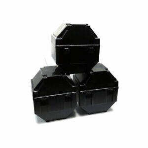 lot Of 3 Ckplas 12 X 11 25 Black Wafer Carrier Units 9 25 Wafer 25 Capacity
