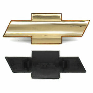 For Chevy Chevrolet Silverado 1999 2006 Grille Emblem Front Grill Gold Badge