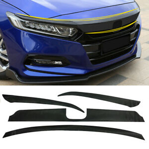 For Honda Accord 2018 2020 Carbon Fiber Bumper Front Hood Grille Decal Sticker