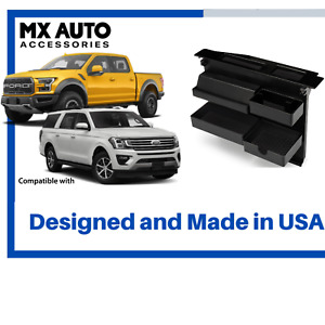 Center Console Organizer Car Truck Tray Storage Dvd Cup Holder Ford 2015 2020