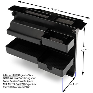 Ford Fits 15 20 F150 Pickup Oe Style Center Console Organizer Tray Storage Box