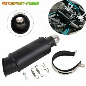 Universal Motorcycle Atv Exhaust Muffler Silencer Pipe 38 51mm Stainless Steel