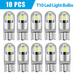 10pcs Led T10 194 168 W5w Canbus White Dome License Side Marker Light Bulb 6000k