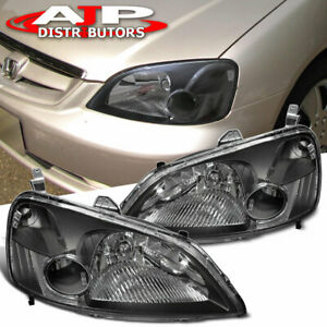 Black Clear Corner Replacement Head Lights Lamps Lh Rh For 2001 2003 Honda Civic