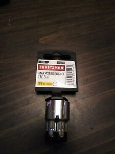 New Craftsman Max Axess Socket 11 16 3 8 Drive 29248 929248
