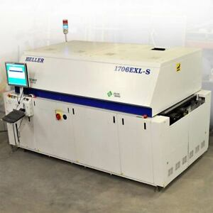 Heller 1706exl s Hot Air Reflow Oven 6 Heating 1 Cooling Zones Lead Free Capable