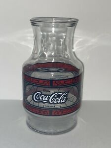 Godfather's Pizza Coca-Cola Glass Pitcher Carafe Anchor Hocking