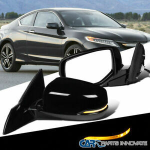 For Honda 13 17 Accord Power Heated 7 Pin Side Mirrors Led Signal Left Right